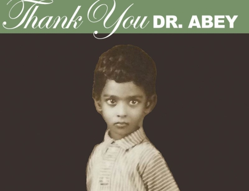 Thank You Dr. Abey!