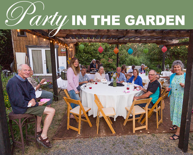 Newsletter-Party in the garden